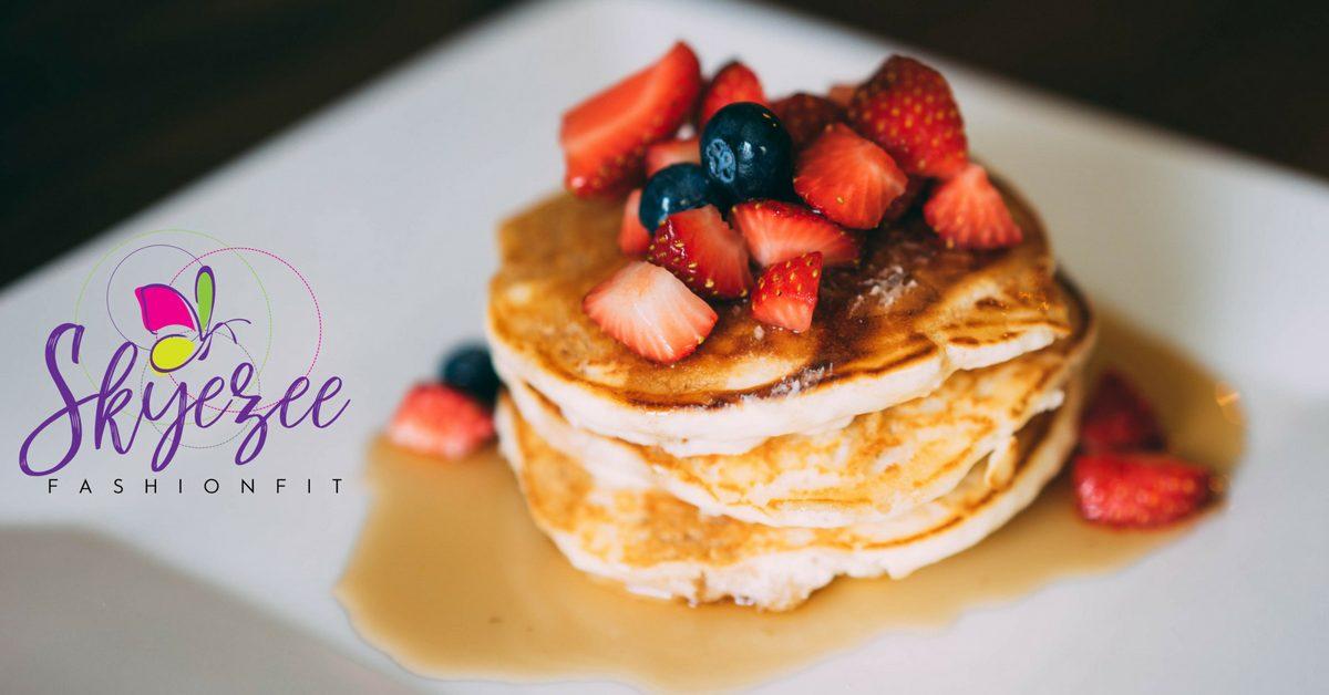sweet potato protein pancakes [skyezee fashionfit]