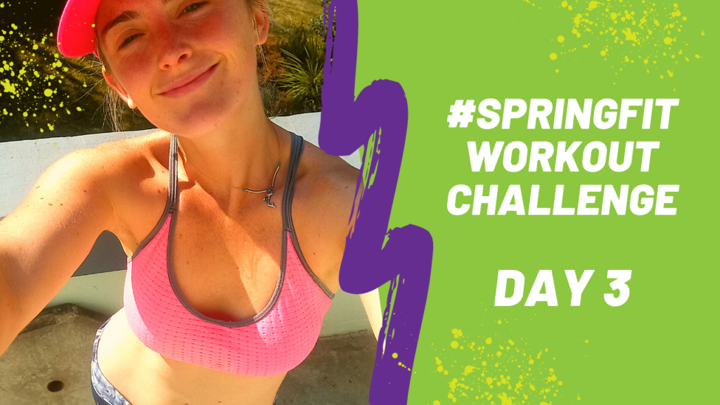 Sporty Strong Workout Day 2 Spring Fit Challenge [Skyezee FashionFit}